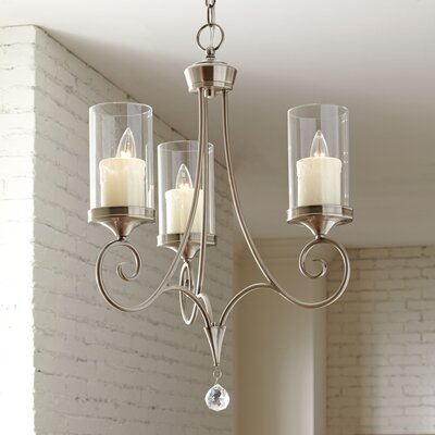 Azaria 3-Light Candle-Style Chandelier Finish: Classic Pewter