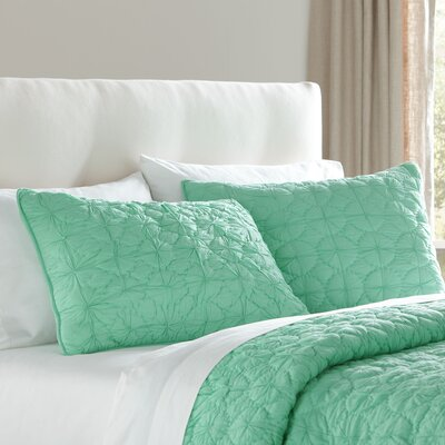 Melody Sham Size: Euro, Color: Cool Aqua