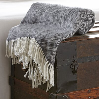 Serena Herringbone Throw Color: Dark Gray