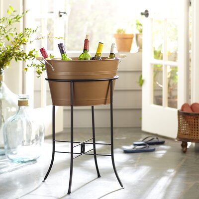 Cawley Beverage Tub with Stand Finish: Copper