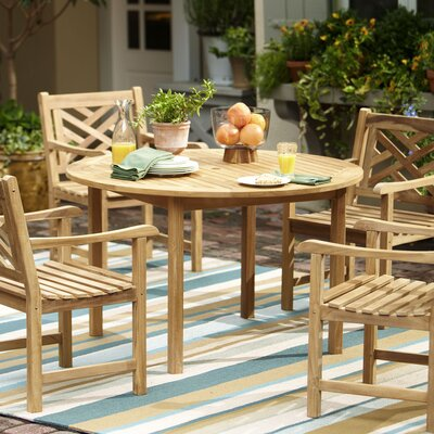 Summerton Teak Wood Round Dining Table picture