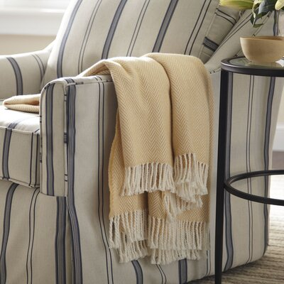 Serena Herringbone Throw Color: Honey