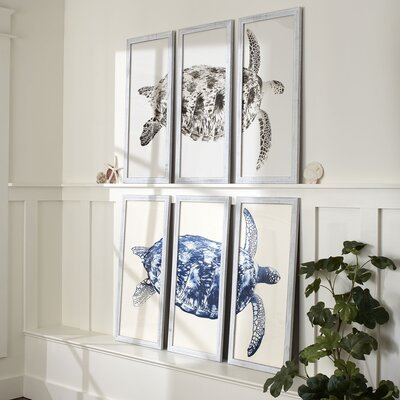 Sea Turtle Triptych Framed Print | 50 Nautical Inspired Ideas For Home Decor | Inexpensive Nautical Decor | DIY Home Decor | theMRSingLink