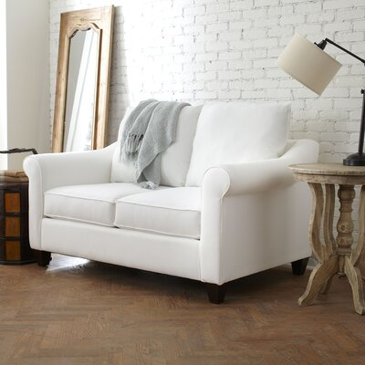 Brooke Loveseat Upholstery: Bevin Natural