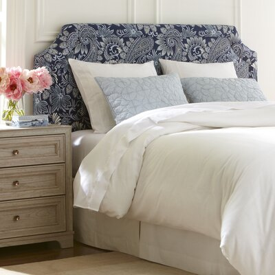Lockwood Upholstered Headboard Upholstery: Lizzy Linen, Size: Queen
