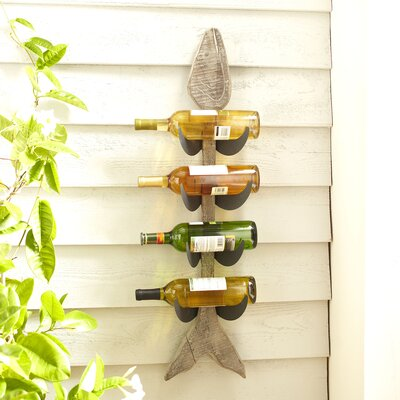 Birch Lane Deep Sea 4-Bottle Wine Rack