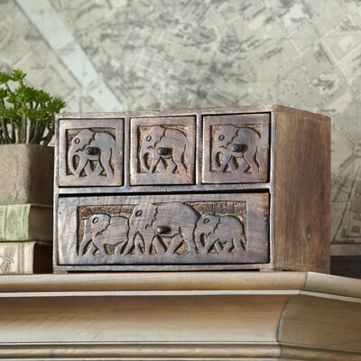 Evita Carved Apothecary Box