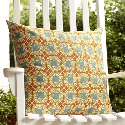 Nyla Outdoor Throw Pillow Color: Tangerine