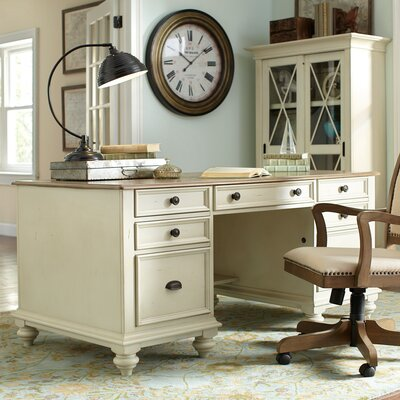 Wetherly Executive Desk Finish: Dover White Product Picture 340