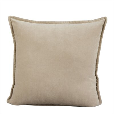 Samara Velvet Pillow Cover Size: 18 H x 18 W x 1 D, Color: Natural