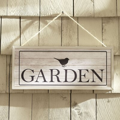 Garden Bird Hanging Plaque