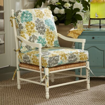 Stephanie Arm Chair Color: Wilmer Blooming Pool