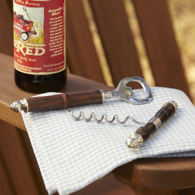 2-Piece Delia Bamboo Bottle Opener Set