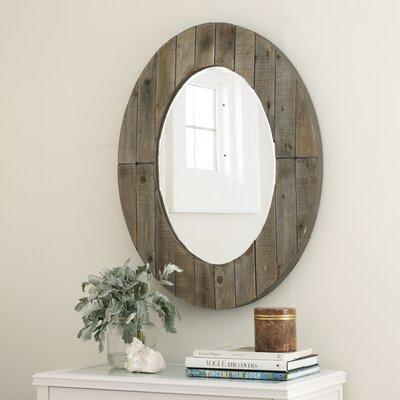 Grey Oval Wall Mirror