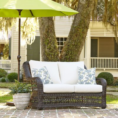 Rosemead Wicker Loveseat with Sunbrella Cushions
