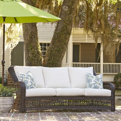 Rosemead Wicker Sofa Sunbrella Cushions - Product photo