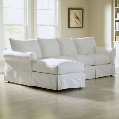 Jameson Sofa with Chaise Upholstery: Truman Cloud White Twill, Orientation: Left