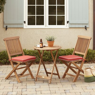Dawes 3 Piece Bistro Set Color: Red
