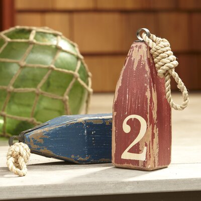 Floating Wood Buoy Decor