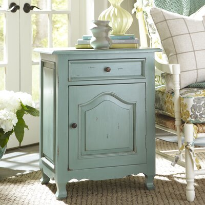 Cassandra Side Table Color: Teal