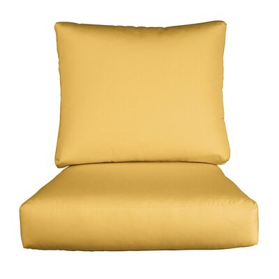 Lynwood Loveseat Sunbrella Cushions Color: Sunbrella Daffodil