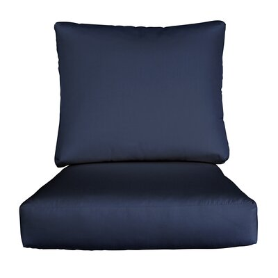 Lynwood Loveseat Sunbrella� Cushions Color: Sunbrella Spectrum Indigo