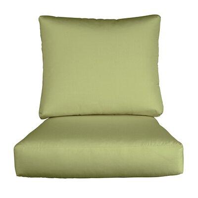 Lynwood Loveseat Sunbrella� Cushions Color: Sunbrella Ginkgo
