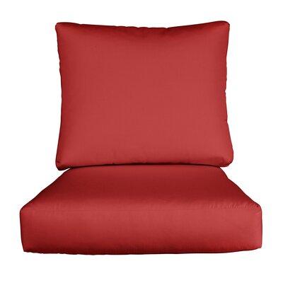 Lynwood Loveseat Sunbrella� Cushions Color: Sunbrella Jockey Red