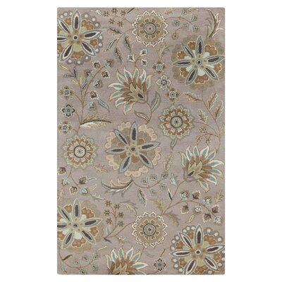 Jasmine Gray Tufted Wool Area Rug Rug Size: Rectangle 5 x 8
