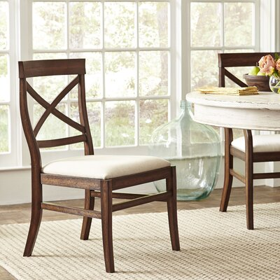 Mansfield Side Chairs (Set of 2) Finish: Mahogany
