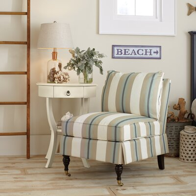 Kendall Slipper Chair Color: Brinley Seabreeze