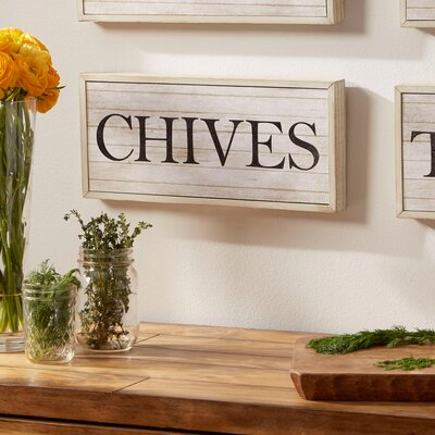 Chives Herbs Plaque