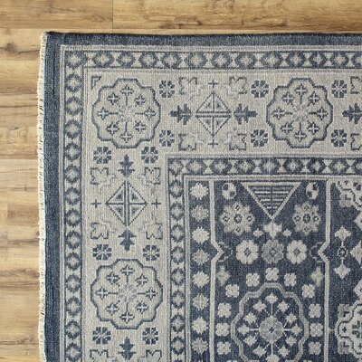Bevan Blue Rug Rug Size: Rectangle 36 x 56