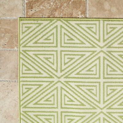 Solana Lime Green Indoor/Outdoor Area Rug Rug Size: 18 x 37