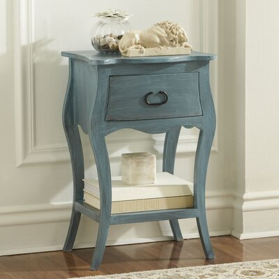 Leena Nightstand Color: Blue