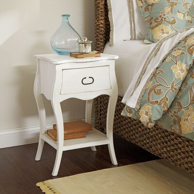 Leena Nightstand Color: Cream