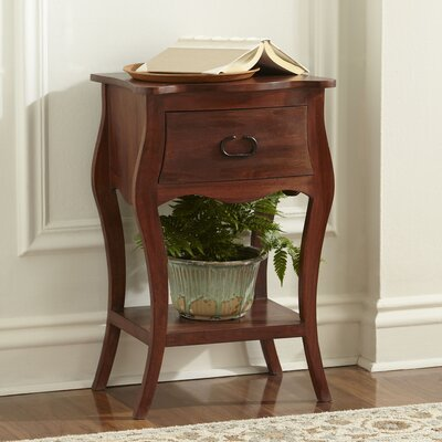 Leena 1 Drawer Nightstand Color: Antique Walnut