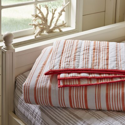Dillon Striped Quilt Size: King, Color: Red