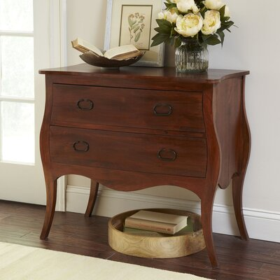 Leena Bombe Chest in Mahogany