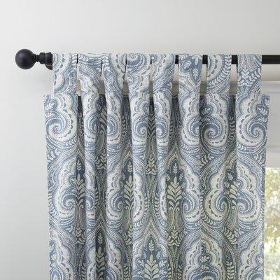 Reina Single Curtain Panel Color: Blue, Size: 52
