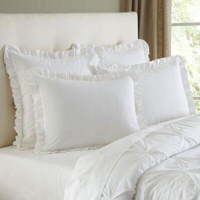 Annette Sham Color: White, Size: Standard