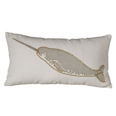 Marina Narwhal Embellished Pillow Cover