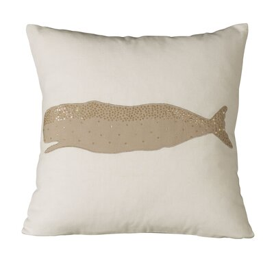 Marina Whale Embellished Pillow Cover