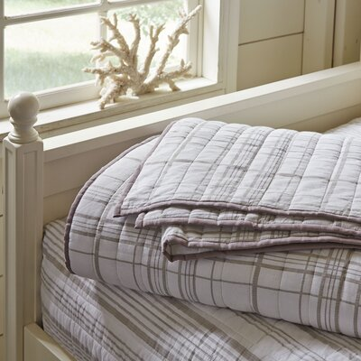 Dillon Plaid Quilt Size: Queen, Color: Natural