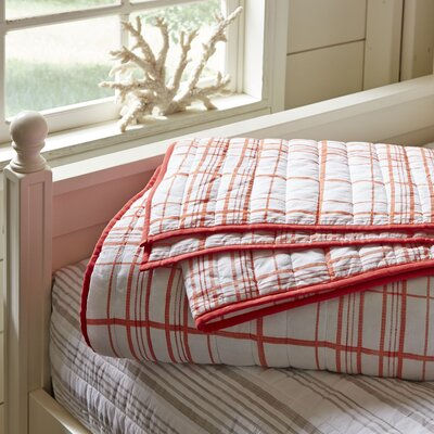 Dillon Plaid Quilt Size: King, Color: Red
