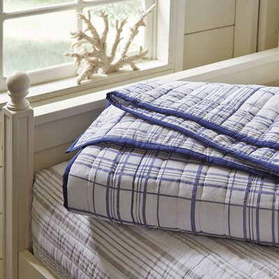 Dillon Plaid Quilt Size: Queen, Color: Navy