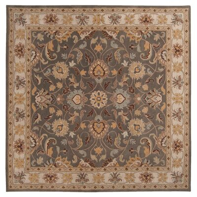 Arden Sage Hand-Woven Wool Area Rug Rug Size: Square 8