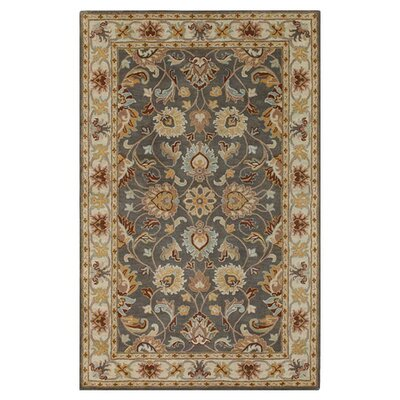 Arden Sage Hand-Woven Wool Area Rug Rug Size: Rectangle 4 x 6