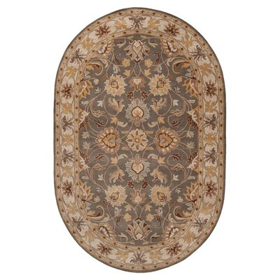Arden Sage Hand-Woven Wool Area Rug Rug Size: Oval 6 x 9