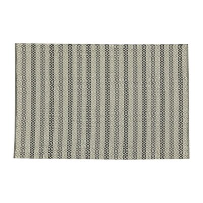 Hayes Rug Hand-Woven Gray Indoor/Outdoor Area Rug Rug Size: Rectangle 5 x 76